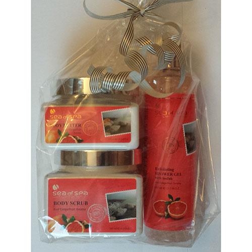 Julklapp kroppsvård med grapefrukt