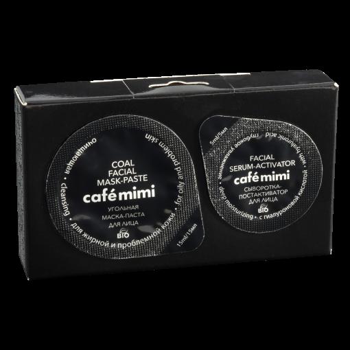 CAfe mimi ansiktsmask med aktivt kol